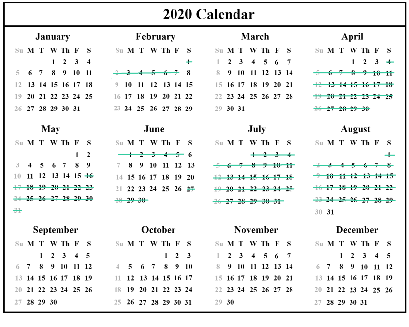 2020 updated March